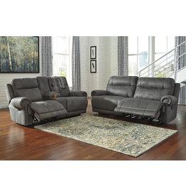 Signature Design Austere Power Reclining Sofa- Gray- 3840417