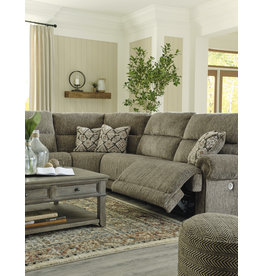 """Signature Design """"Lubec"""" 5 Piece Powered Sectional  """"Taupe"""" Color 8540 746(2)/758/762/777"""