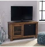 Signature Design Tamonie TV Stand with Fireplace Option - Rustic Brown