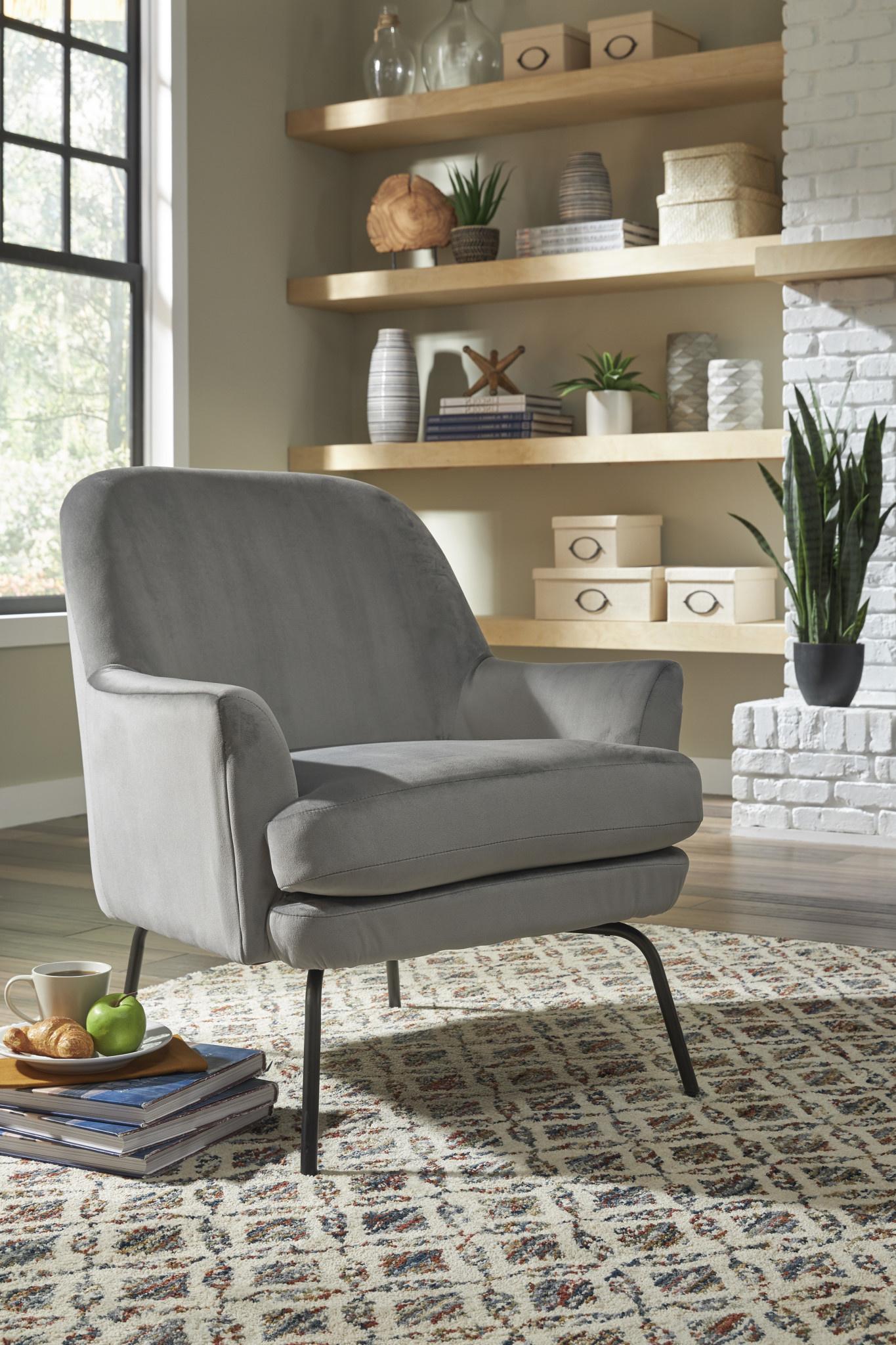 "Signature Design ""Derika"" Accent Chair- Steel- A3000236"