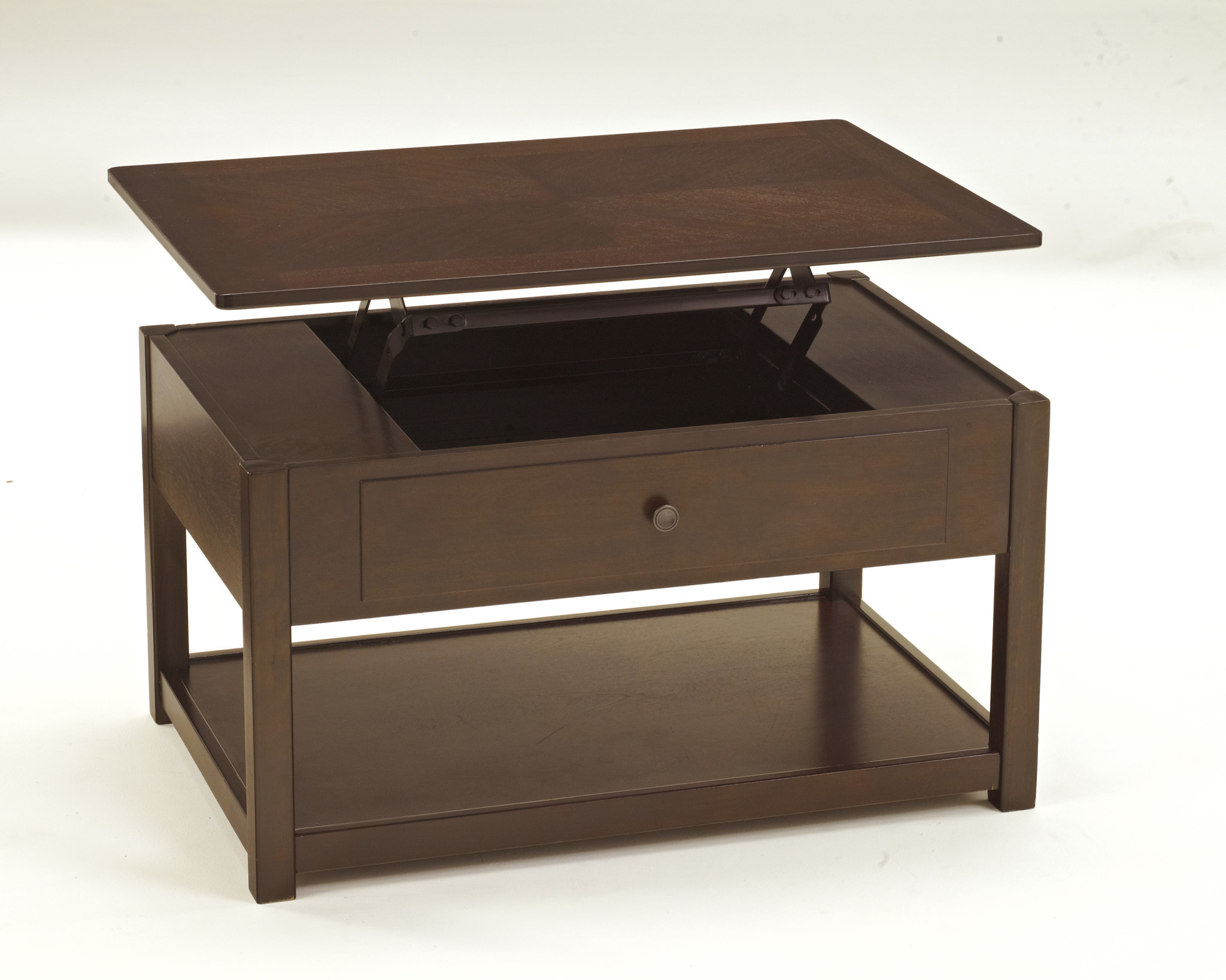"""Signature Design """"Marion"""" Coffee Table w/Lift Top- Dark Brown- T477-9"""