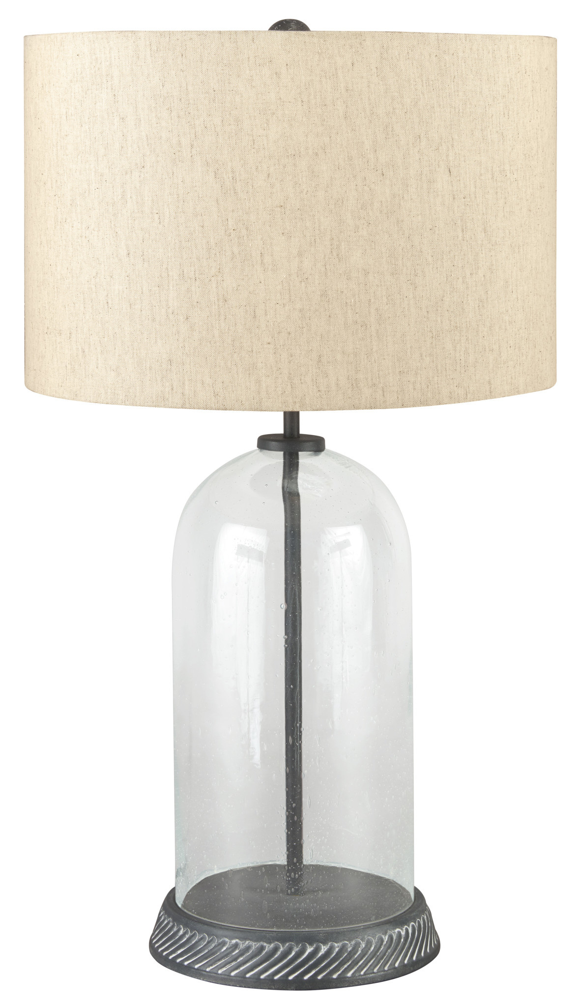 "Signature Design ""Manelin"" Table Lamp- Glass/Gray- L430624"