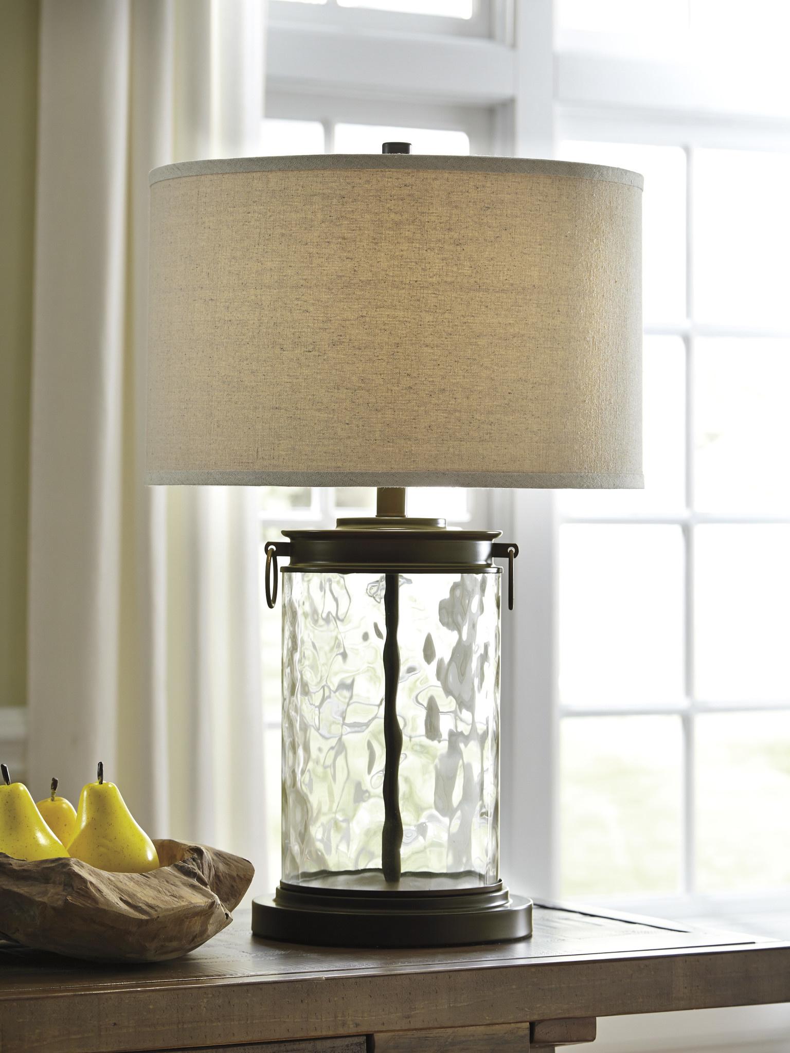 "Signature Design ""Tailynn"" Table Lamp- Clear/Bronze Finish- L430324"