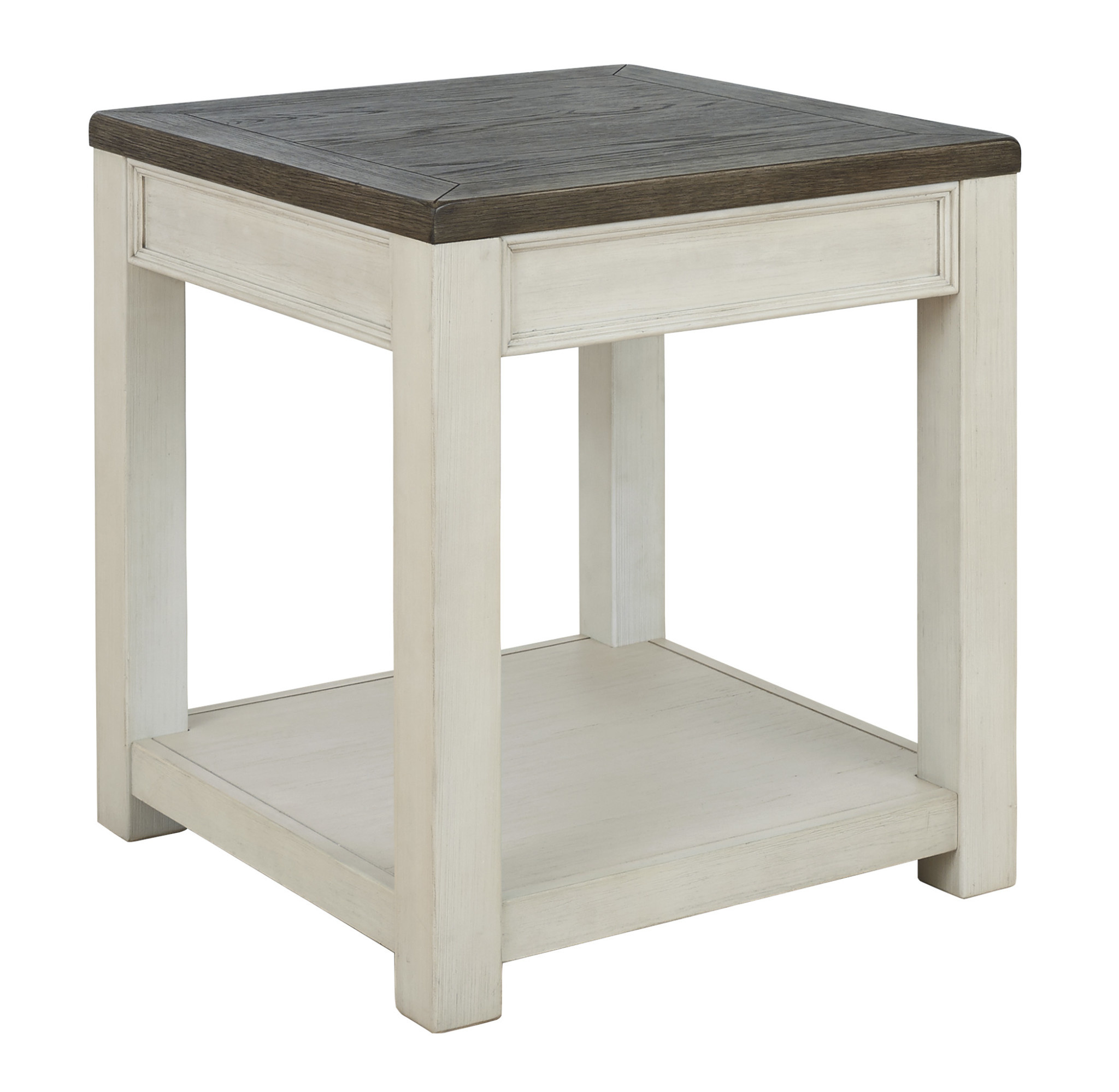 "Signature Design ""Bolanburg"" End Table- Brown/White T751-2"