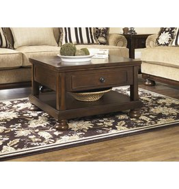 Signature Design Porter Lift Top Cocktail Table - Rustic Brown T697-0