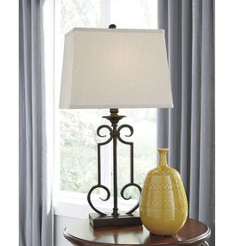 Signature Design Ainslie Metal Table Lamp (2/CN) - Bronze L208034