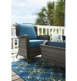 Signature Design Abbots Court Lounge Chair w/Cushion (2/CN) - Blue/Gray P360-820