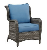Signature Design Abbots Court Lounge Chair w/Cushion (2/CN) - Blue/Gray