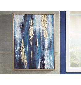 Signature Design Wall Art- A8000218 Dinorah, Teal Blue, Contemporary