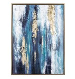 Signature Design Wall Art- A8000218 Dinorah, Teal Blue, Contemporary