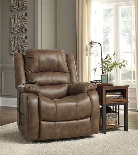 Signature Design Yandel Power Lift Recliner - Saddle 1090012