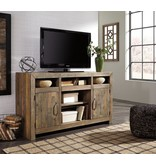 Signature Design Sommerford LG TV Stand w/Fireplace Option - Brown