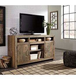 Signature Design Sommerford Large TV Stand w/Fireplace Option - Brown