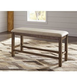 Signature Design Moriville Double UPH Bench (1/CN) - Beige