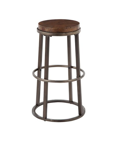 Glosco Tall Stool (2/CN) - Medium Brown D548-330