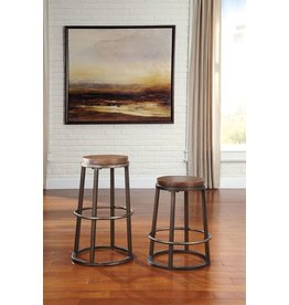 Glosco Tall Stool (2/CN) - Medium Brown D548-330
