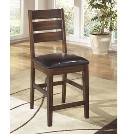 Larchmont Upholstered Barstool (2/CN) - Burnished Dark Brown D442-124