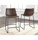 Centiar Barstool- Black/Brown Upholstered D372-124