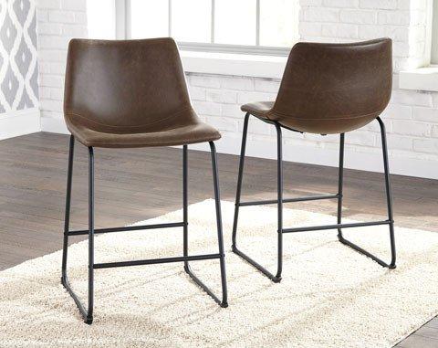 Centiar Barstool- Black/Brown Upholstered D372-124