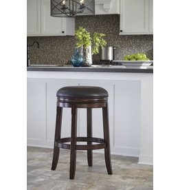 Porter Tall UPH Swivel Stool (2/CN) - Rustic Brown D697-330