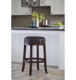 Porter Tall UPH Swivel Stool (2/CN) - Rustic Brown D697-330
