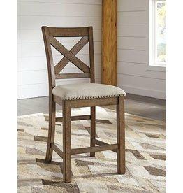 Moriville Upholstered Barstool  - Gray D631-124