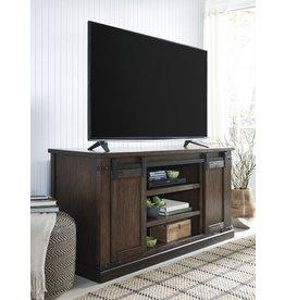 Signature Design W562-48 Large Budmore TV Stand, Barn Doors, Rustic Brown