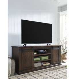 Signature Design W562-68 Large, Budmore Barn Door TV Stand