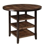 Moriann Round DRM Counter Table - Dark Brown