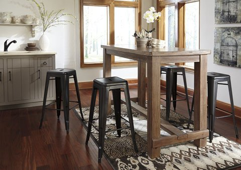 Pinnadel Dining Room Bar Table - Light Brown