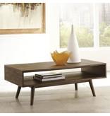 Kisper Rectangular Cocktail Table - Dark Brown T802-1