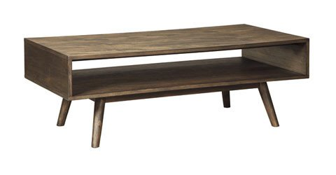 Kisper Rectangular Cocktail Table - Dark Brown T802-1