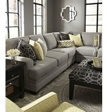 Signature Design Cresson, Left Arm Facing Sectional- Pewter