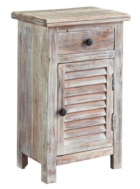 Signature Design Charlowe Door Night Stand - White Wash B013-292