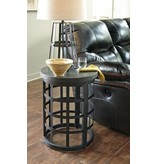 Signature Design Marimon Round End Table - Black T746-6
