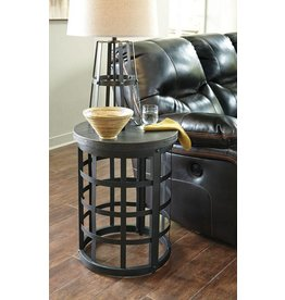 Signature Design Marimon Round End Table - Black T746-6