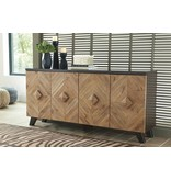 Signature Design Robin Ridge- Door Accent Cabinet, Two Tone- Brown