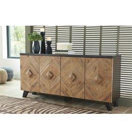 Signature Design Robin Ridge- Door Accent Cabinet, Two Tone- Brown A4000031