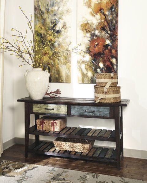 Signature Design Mestler Sofa Table, Rustic Brown