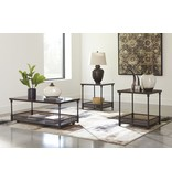 Signature Design Kalmiski- Occasional Table Set of 3, Dark Brown T301-13