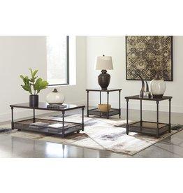 Signature Design Kalmiski- Occasional Table Set of 3, Dark Brown T301-13