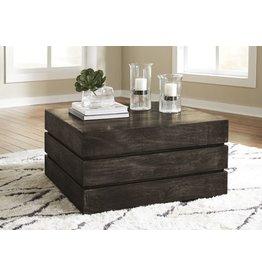 Signature Design Shallia, Square  Cocktail Table, Transparent Black T860-8