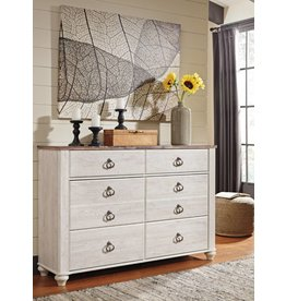 Signature Design Willowton Dresser - Two-tone B267-31