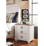 Signature Design Willowton Two Drawer Night Stand - Two-tone B267-92