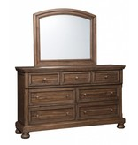 Signature Design Flynnter, Bedroom Mirror, Medium Brown B719-36