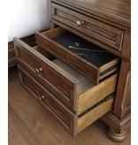 Signature Design Flynnter, Two Drawer Night Stand, Medium Brown B719-92