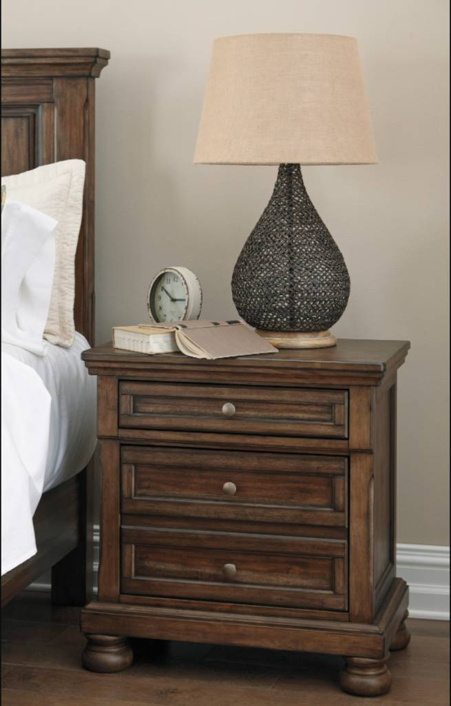 Signature Design Flynnter, Two Drawer Night Stand, Medium Brown B719-92