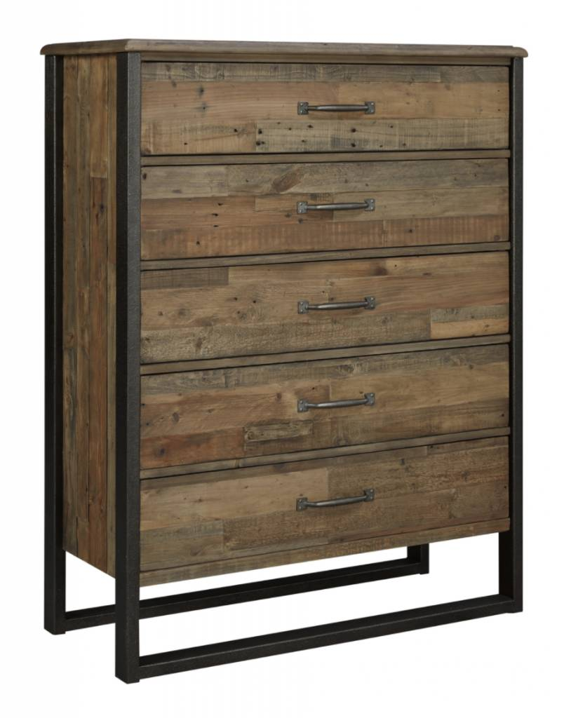 Signature Design Sommerford Five Drawer Chest - Brown B775-46
