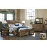 Signature Design Sommerford Queen Storage Bed, Brown B775- 74S, 77, 98S