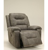 Signature Design Rotation Power Rocker Recliner - Smoke 9750198